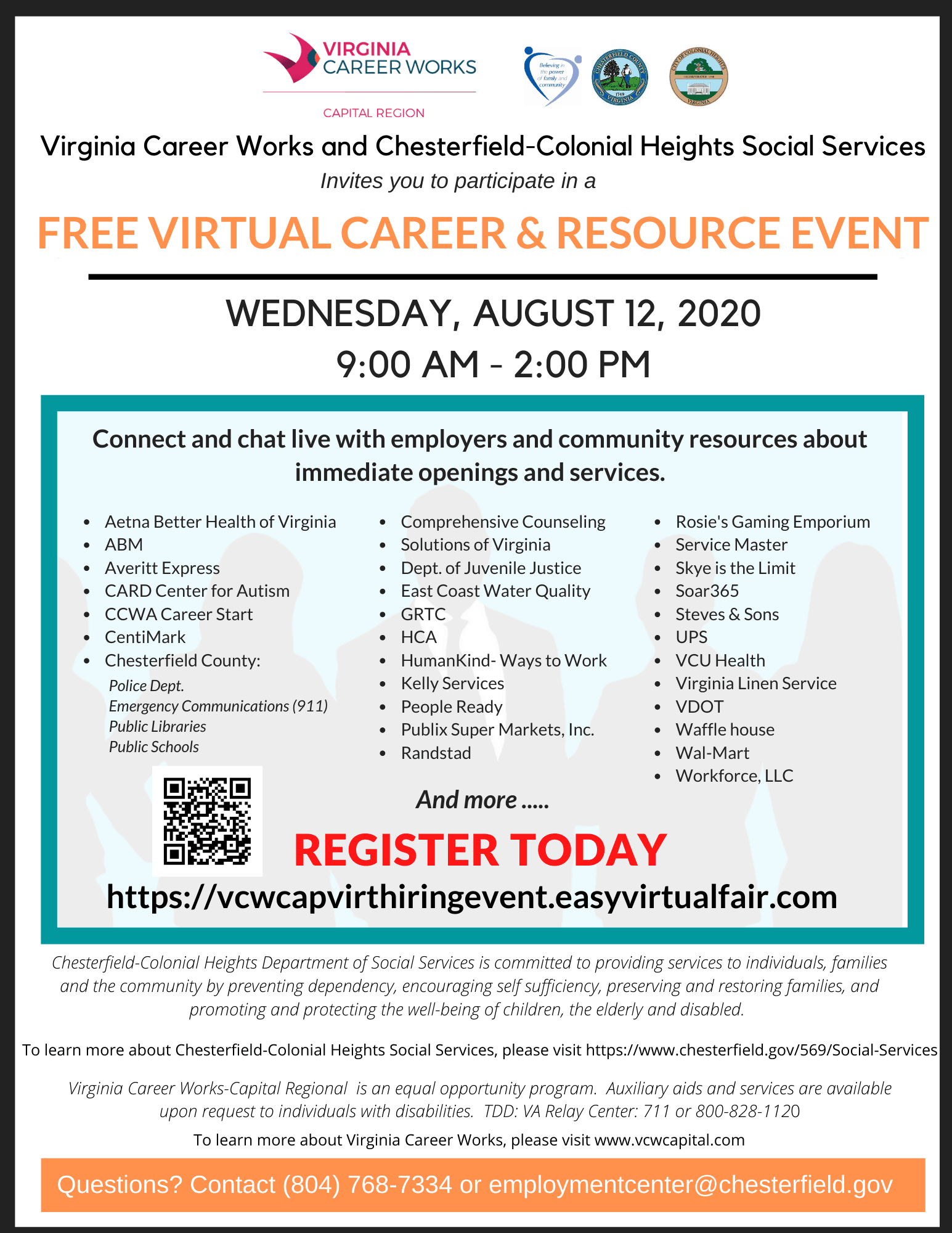 Virtual Career Fair - August 2020