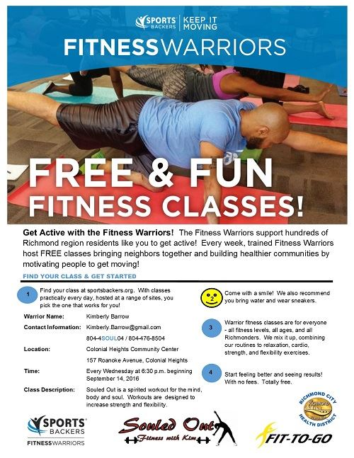 Fitness Warrior Class Flyer website