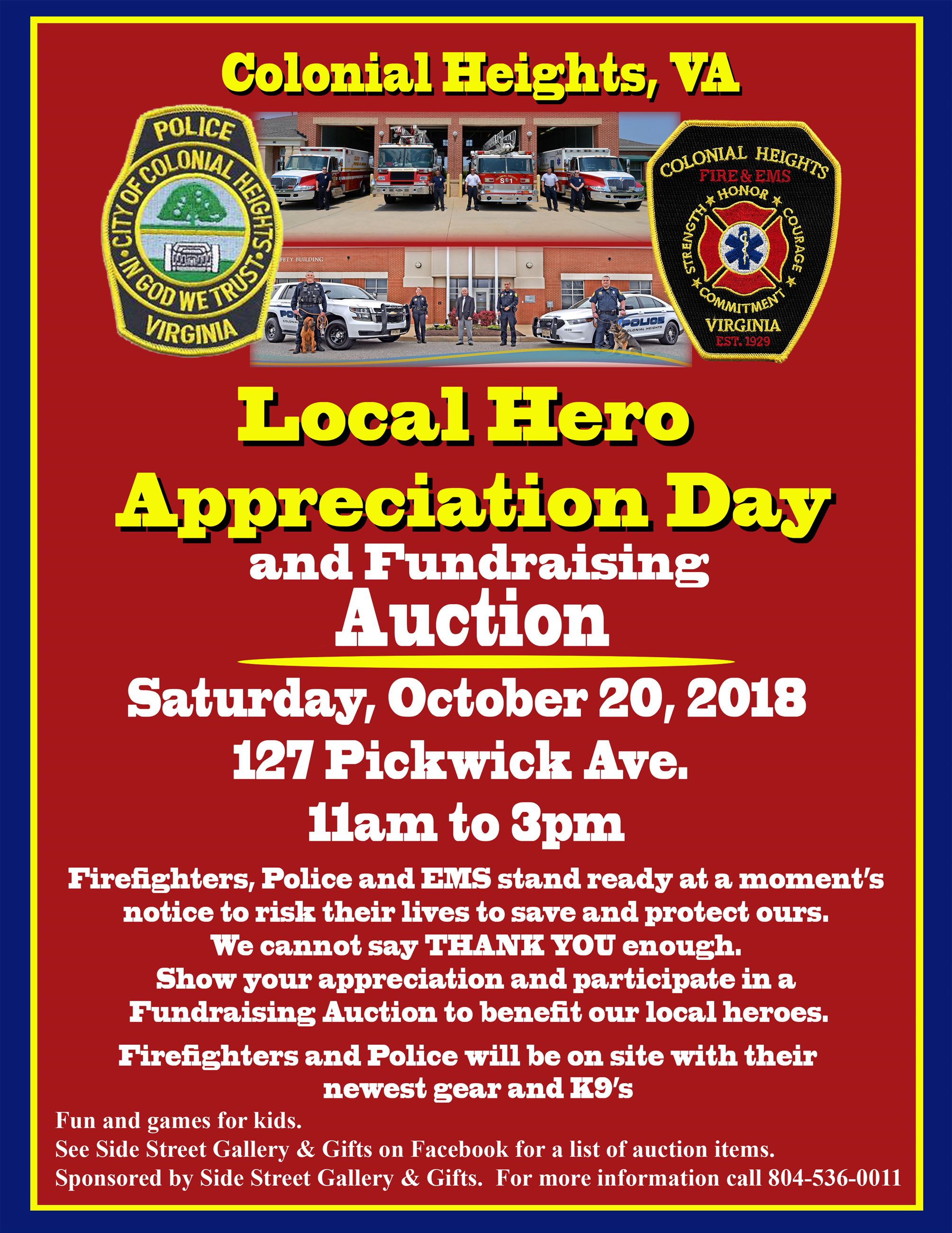 Local Hero Fundraiser Poster 8 5 x11