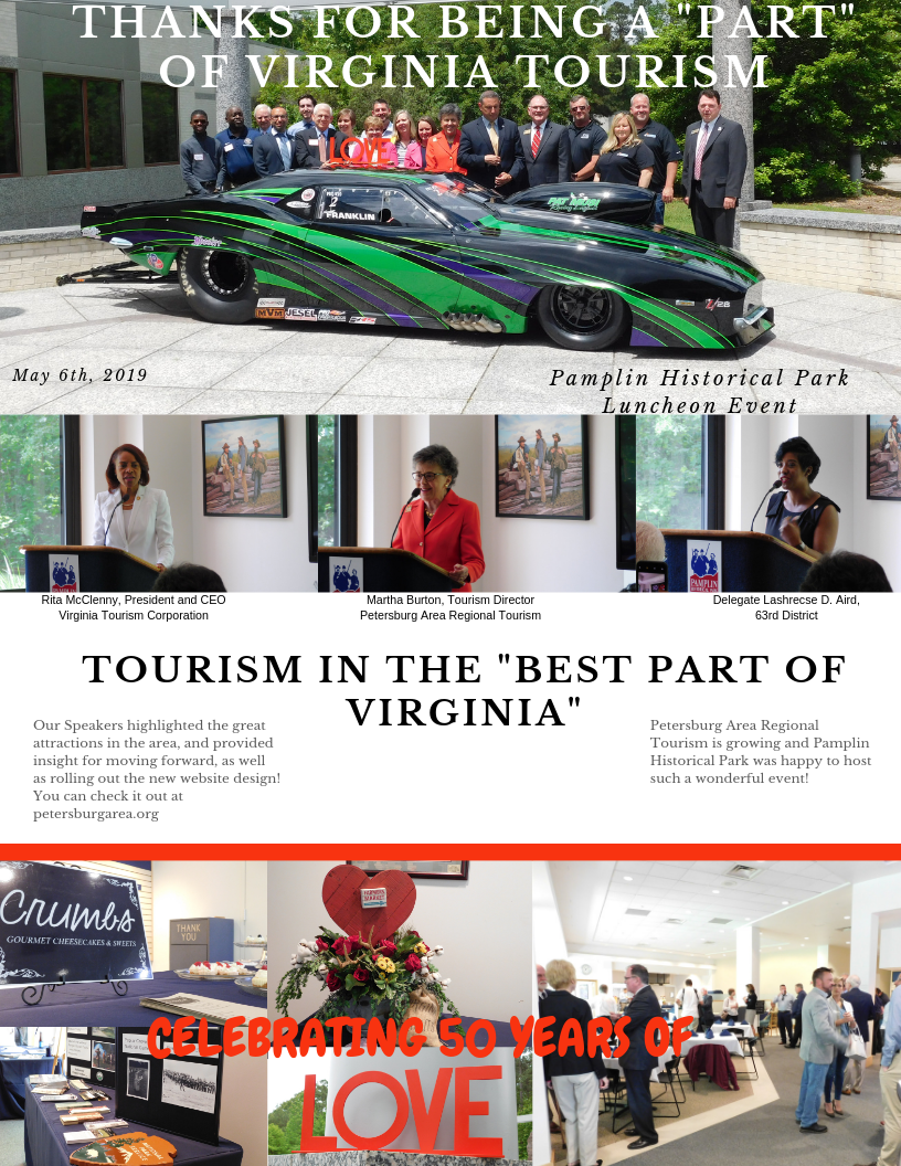 Thanks for being a _PART_ of Virginia Tourism