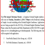 Christmas Parade Flyer 2019