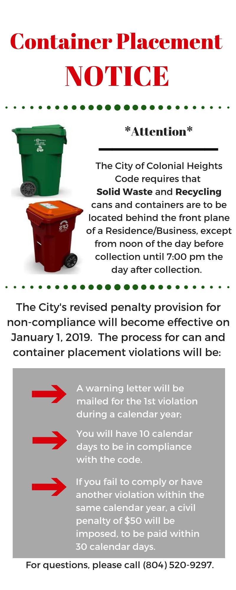 Waste Container Removal Notice - 2018