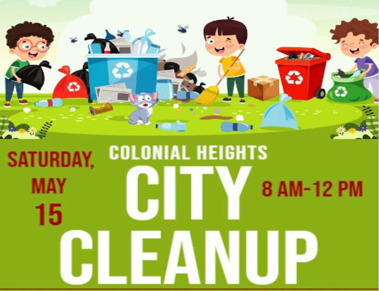 City Cleanup Day Flyer - May 15, 2021 crppd